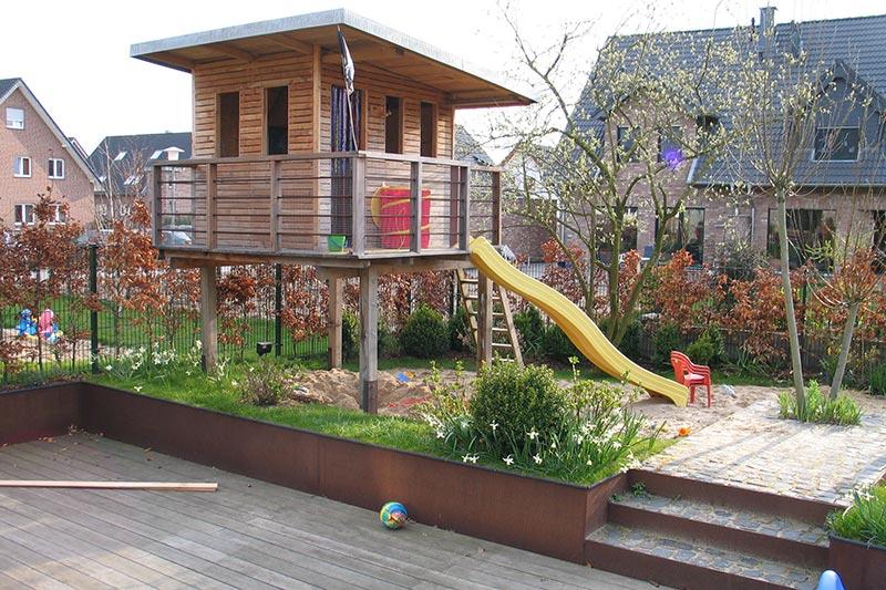 holzterrassen & holz im garten - gartenbau zanders - Gartengestaltung Mit Holzterrasse