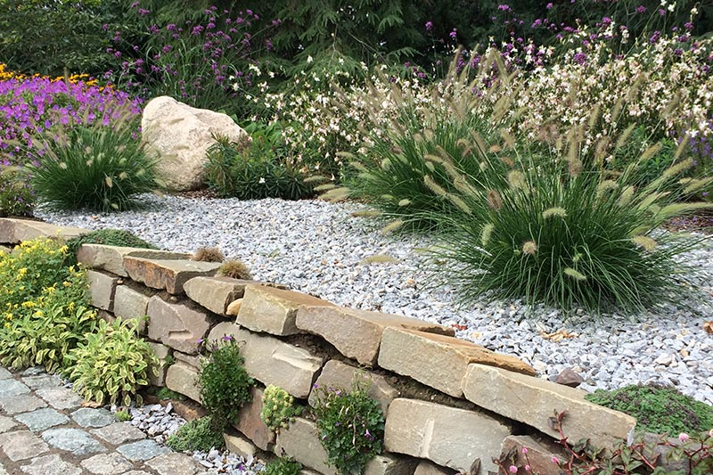 Natursteinmauer mit Bepflanzung aus Viersen