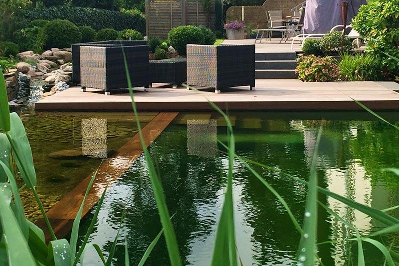 Garten- und Landschaftsbau - Schwimmteich aus Viersen